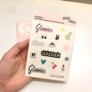 👄 Glossier stickers with sleeve FREEBIE in bundle